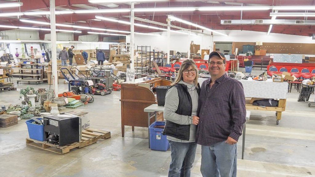 Tammy and Jesse Sparks are shown in the new Sparks Auction location in Edina, MO. Photo by Echo Menges