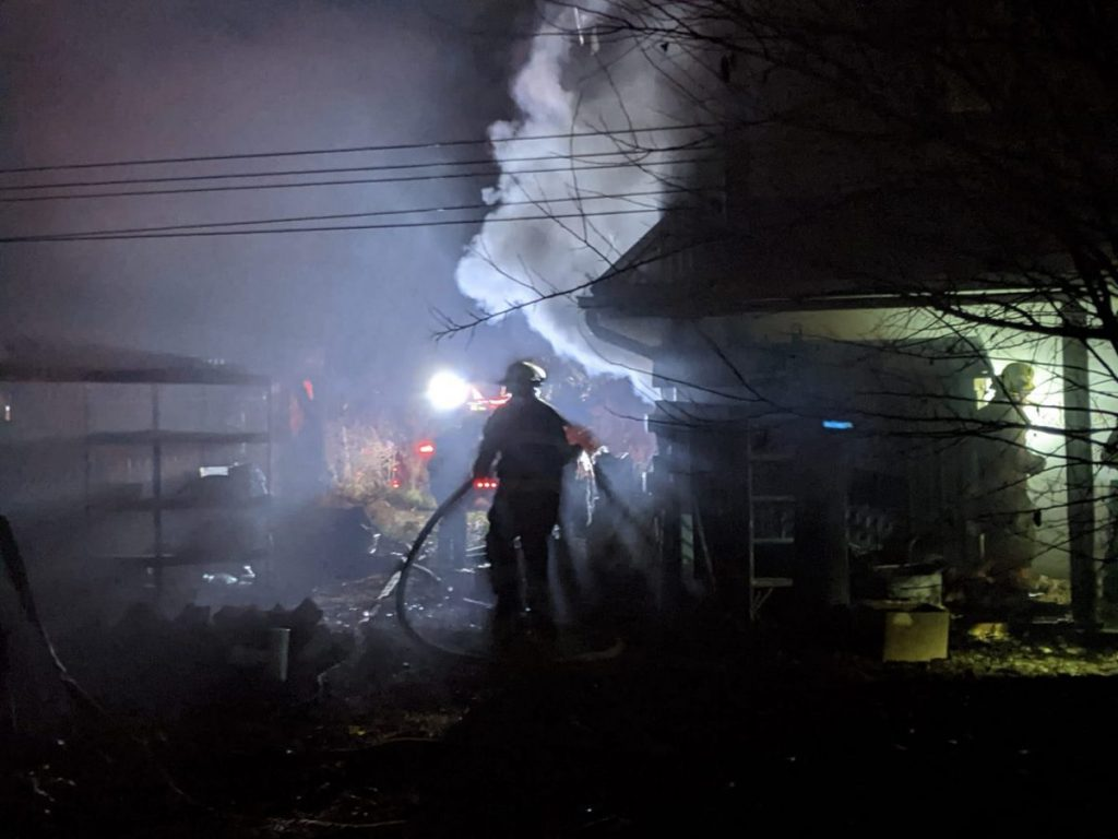 Mercantile Fire on 11-11-20