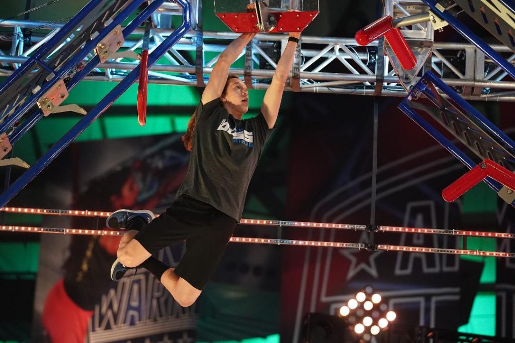 AMERICAN NINJA WARRIOR TV SHOW COMPETITOR ELIJAH BROWNING - Elijah Browning is shown competing on the television show American Ninja Warrior. Browning's television premiere on the show was aired during Prime Time on NBC on May 31, 2021. Photo special for The Edina Sentinel, courtesy of NBC Television Network